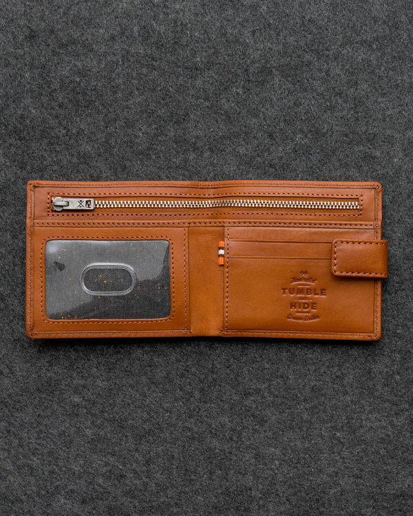 Tan Tudor Leather Classic Wallet a