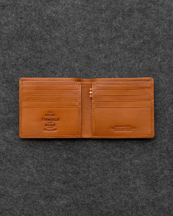 Tan Tudor Leather East West Basal Wallet a
