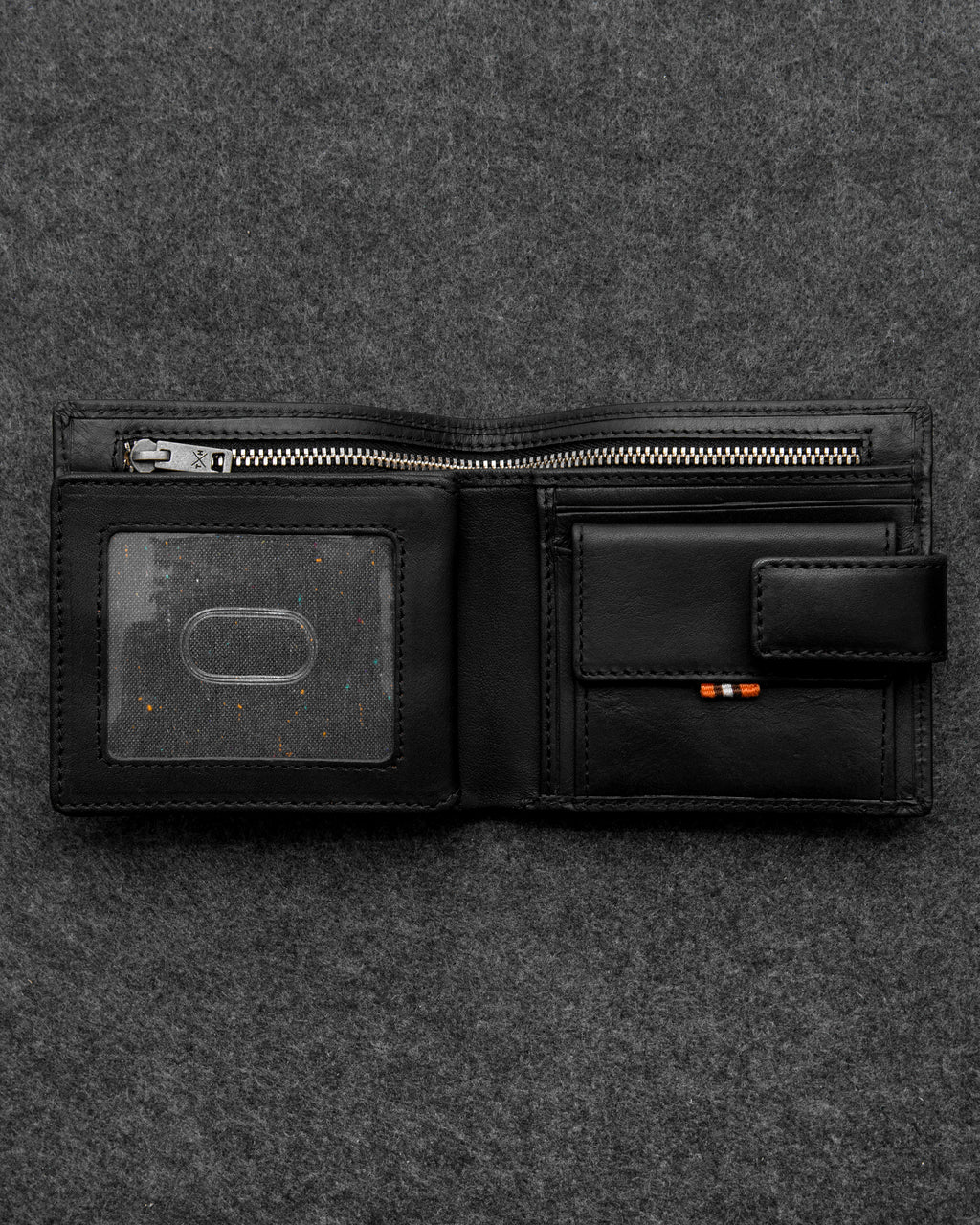 Black Tudor Leather Everyday Wallet a