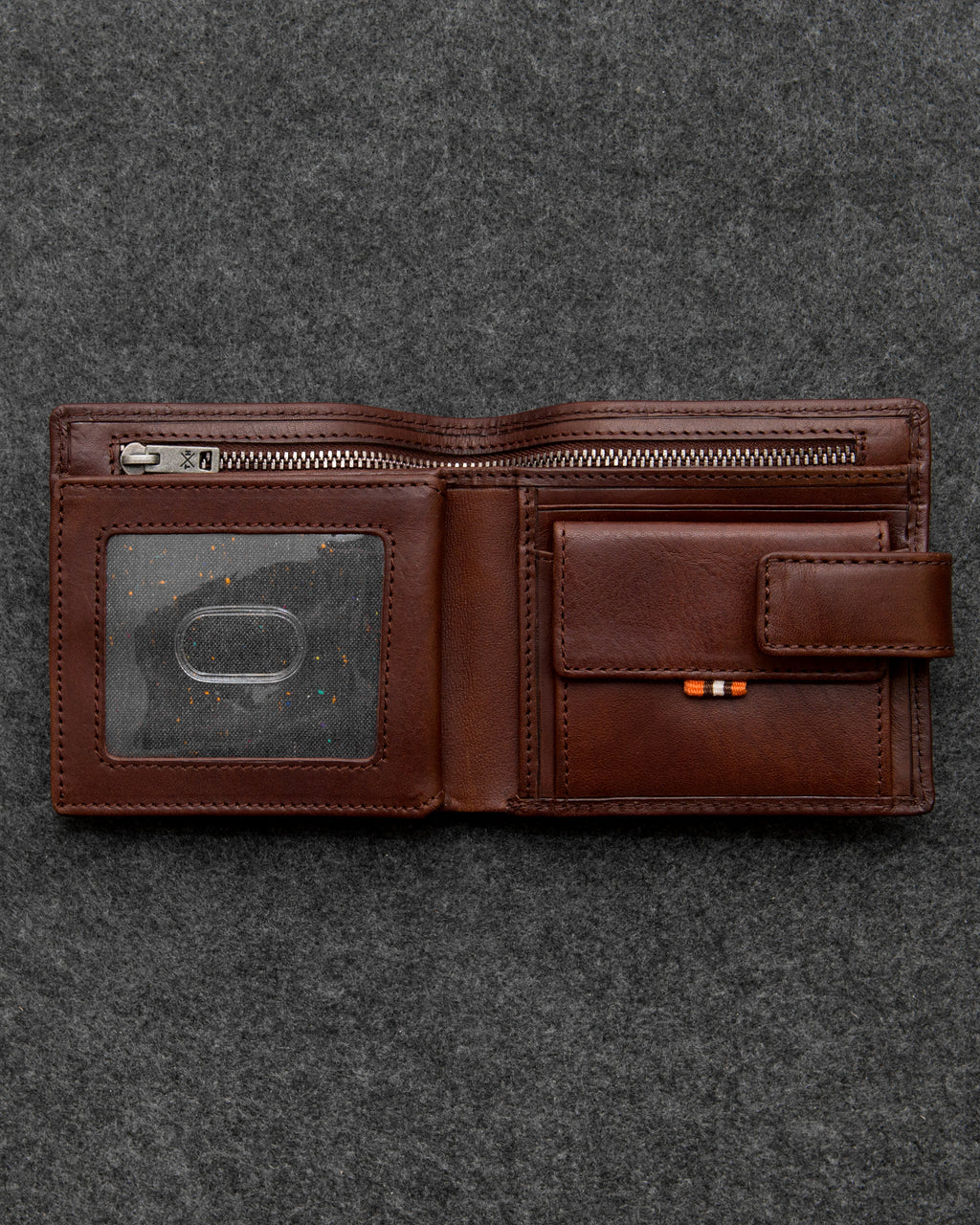 Brown Tudor Leather Everyday Wallet a