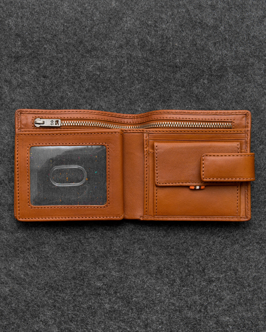 Tan Tudor Leather Everyday Wallet a