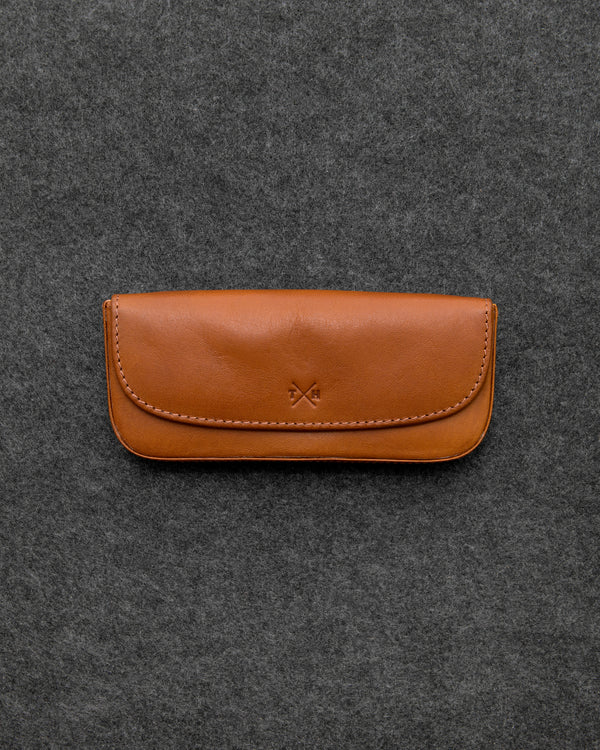 Tan Tudor Leather Glasses Case a
