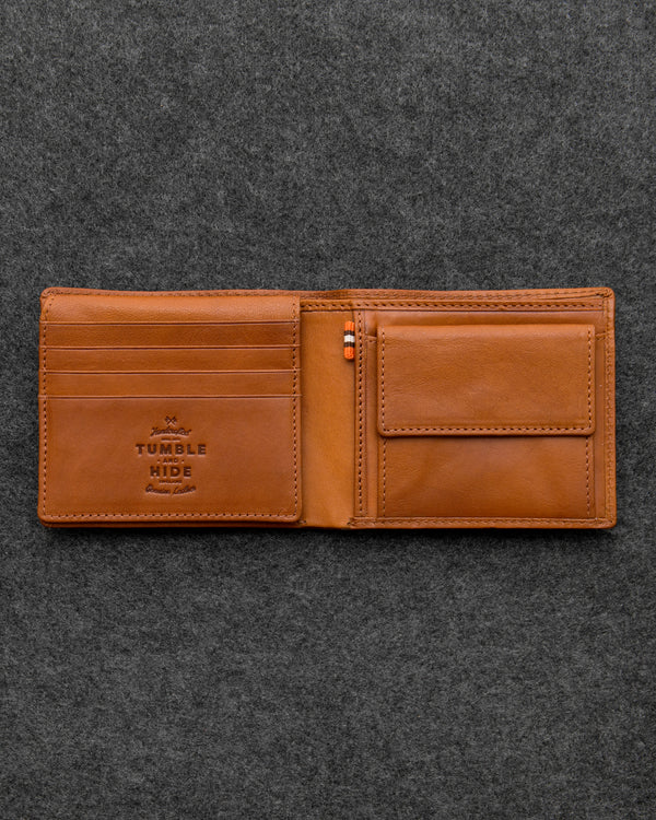 Tan Tudor Leather Hallmark Wallet a