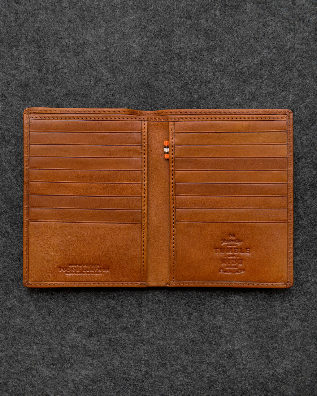 Tan Tudor Leather Traditional Jacket Wallet a