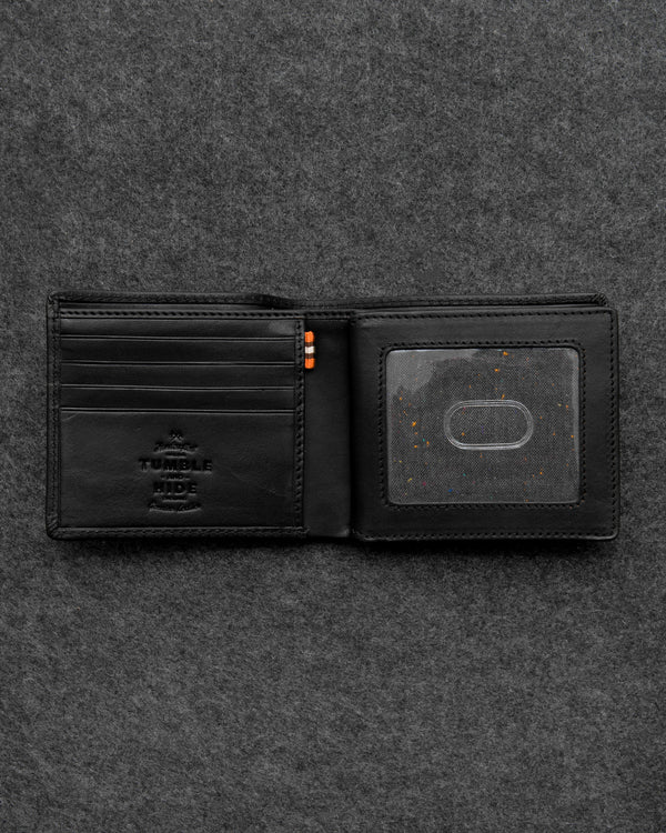 Black Tudor Leather Legion Wallet a