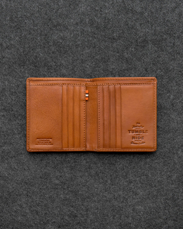 Tan Tudor Leather North South Basal Wallet a