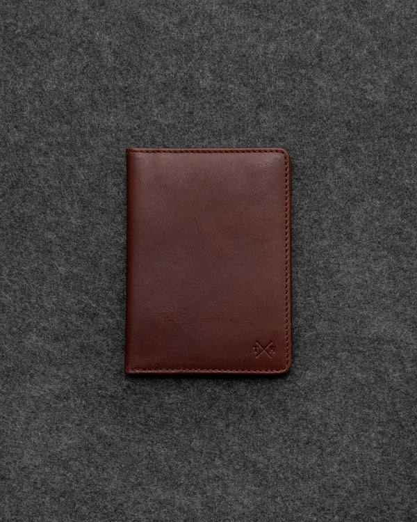 Brown Tudor Leather Passport Holder a