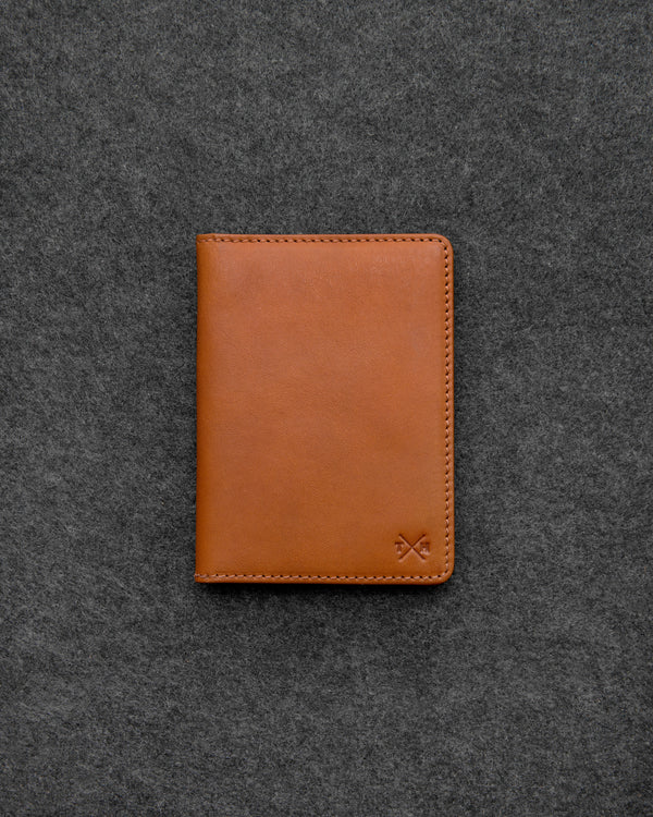 Tan Tudor Leather Passport Holder a