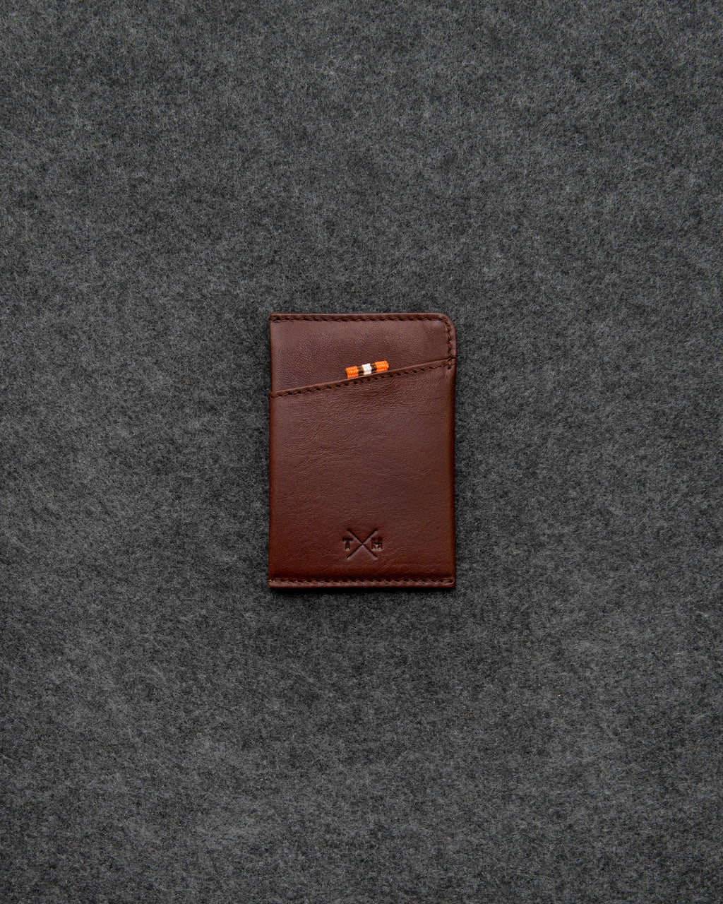 Brown Tudor Leather Slim Card Case a