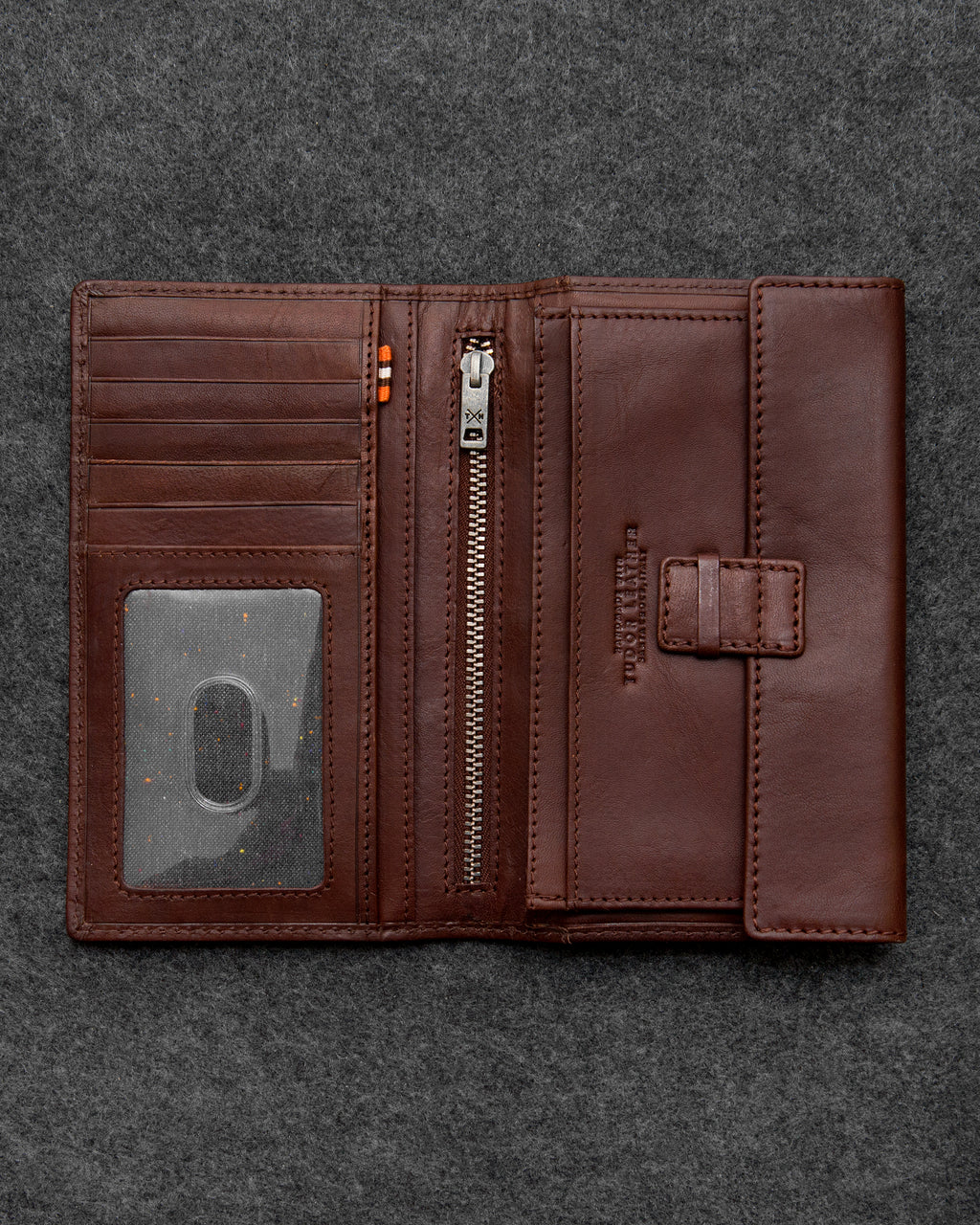 Brown Tudor Leather Traditional Wallet a