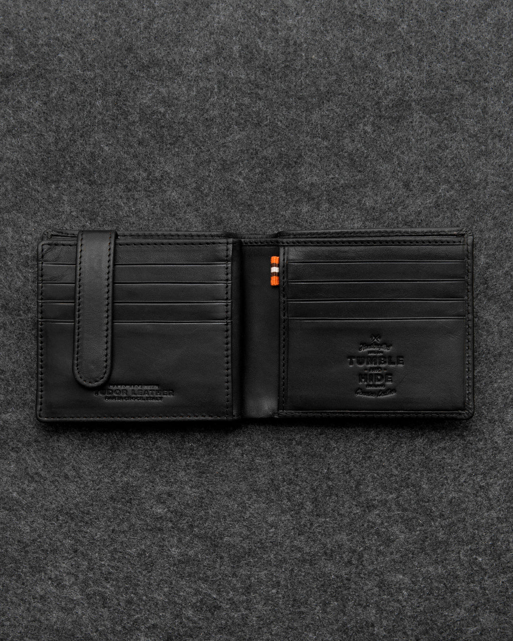 Black Tudor Leather Ultimate Card Wallet a