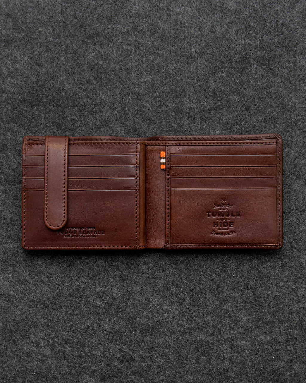 Brown Tudor Leather Ultimate Card Wallet a