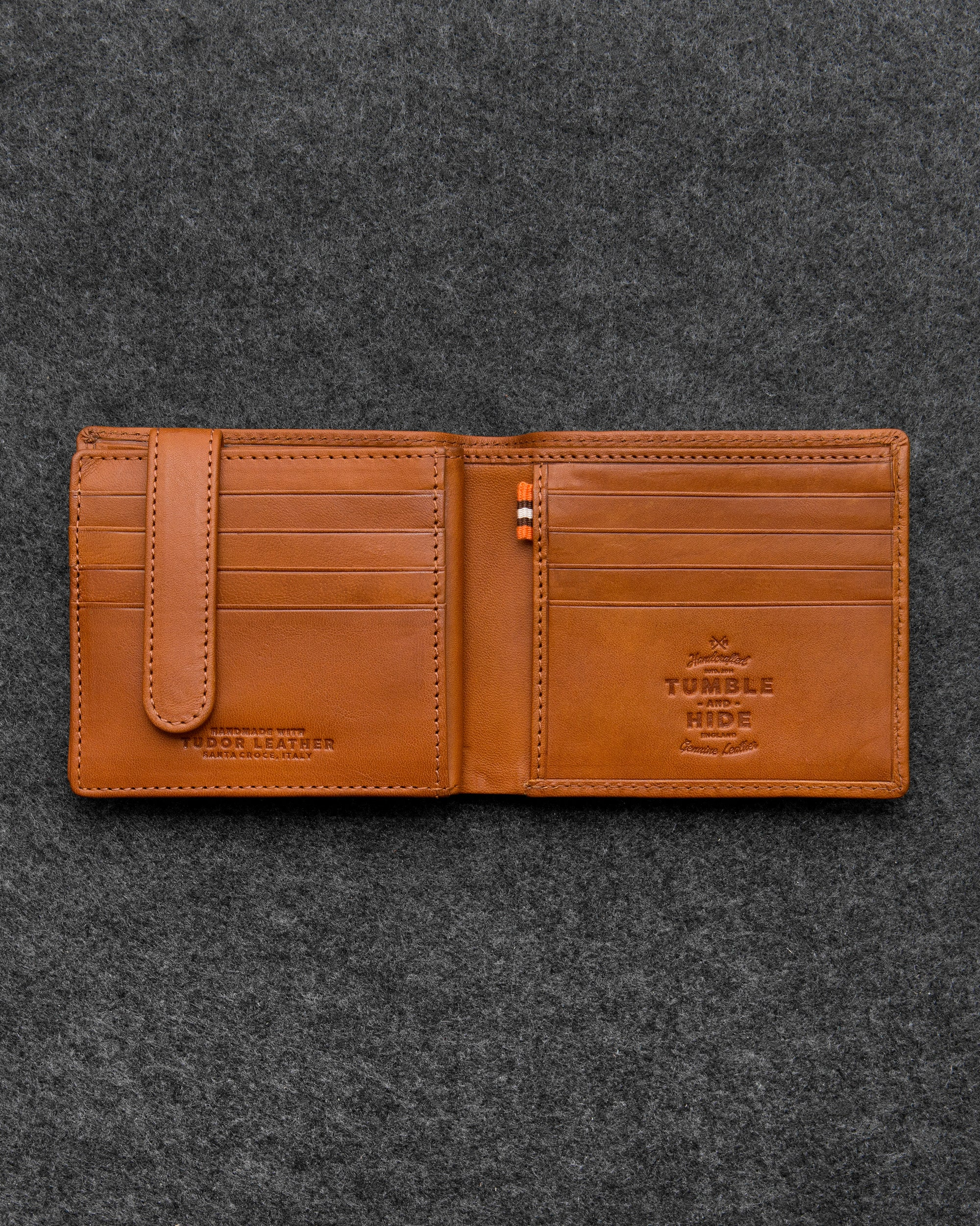 d74f18df9598 Tan Tudor Leather Ultimate Card Wallet by Tumble and Hide