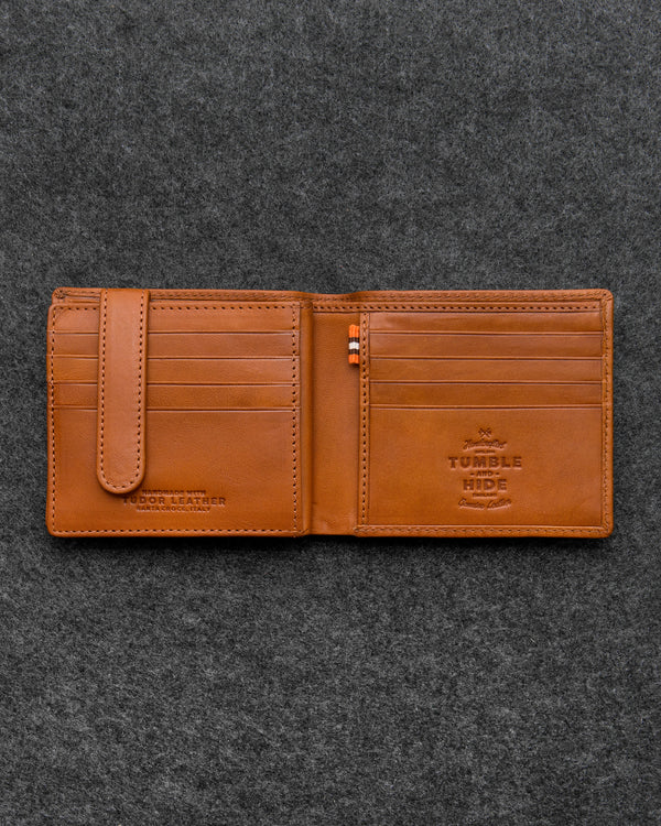 Tan Tudor Leather Ultimate Card Wallet a