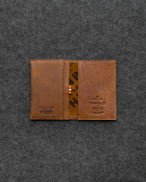 Brown Yukon Leather Card Holder a