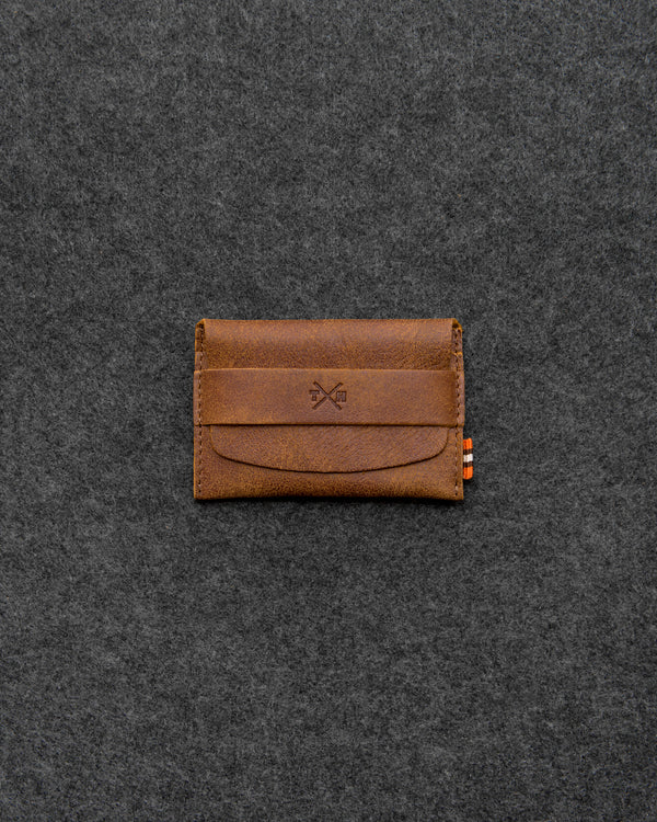 Brown Yukon Leather Card Pouch a