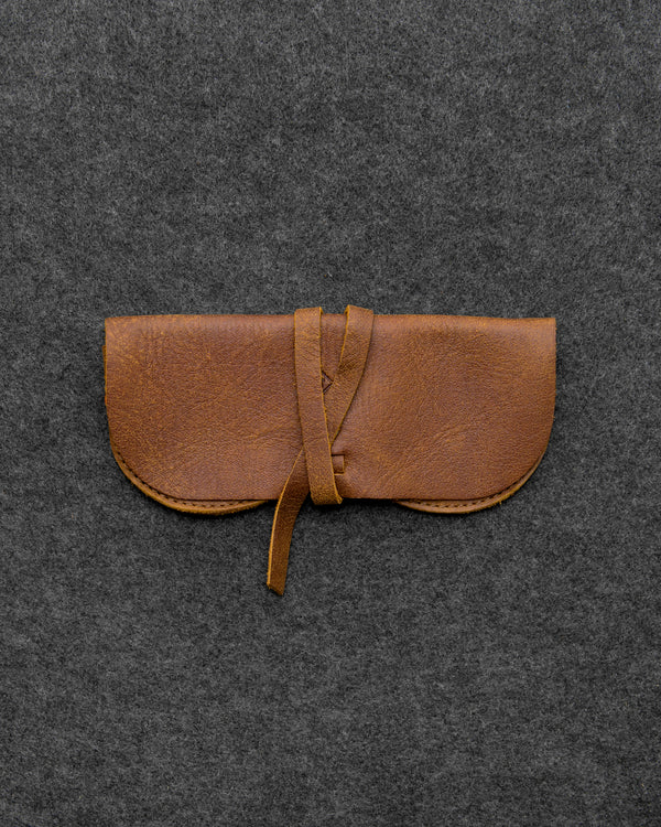 Brown Yukon Leather Glasses Case a