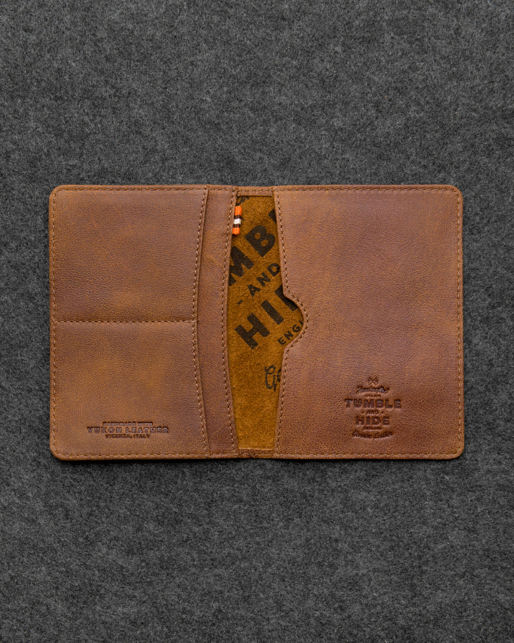 Brown Yukon Leather Passport Holder a