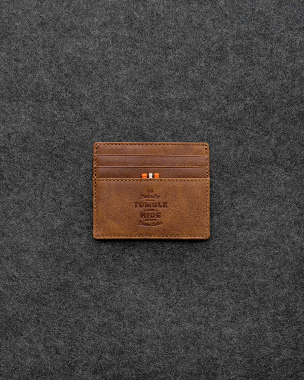 Brown Yukon Leather Slim Card Wallet a