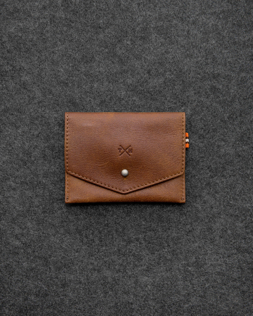 Brown Yukon Leather Slim Purse a