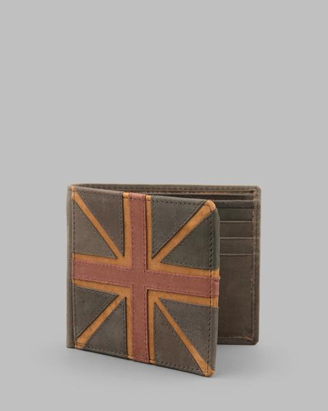 Navy Hunter Leather Union Jack Wallet a