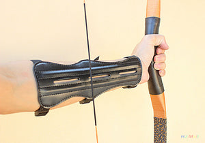 Leather 3 Strap Archery Arm Guard