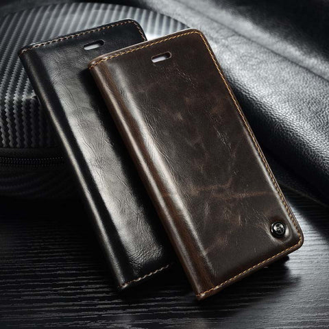 Business Style Leather Case for IPhone 5s/6/6s/6plus/7/7plus