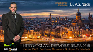 Keynote Lecture & Book Signing by Dr. 'Narain' Naidu at the International Therapist Expo-Houten 2018