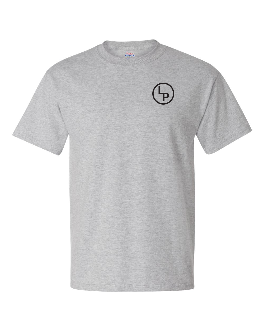 LP Ranch Logo Hanes Beefy-T - Gray