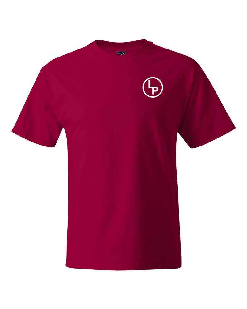 LP Ranch Logo Hanes Beefy-T - Red