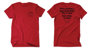 """Wing Commandment"" Tee (Black or Red)- LIMITED EDITION"