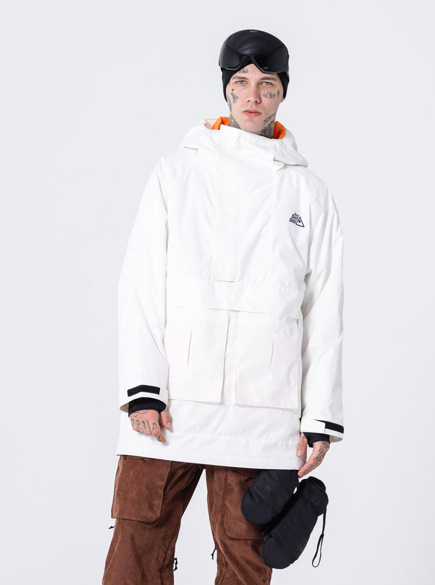 PRE-ORDER NBD INDEPENDENT ANORAK JACKET-WHITE