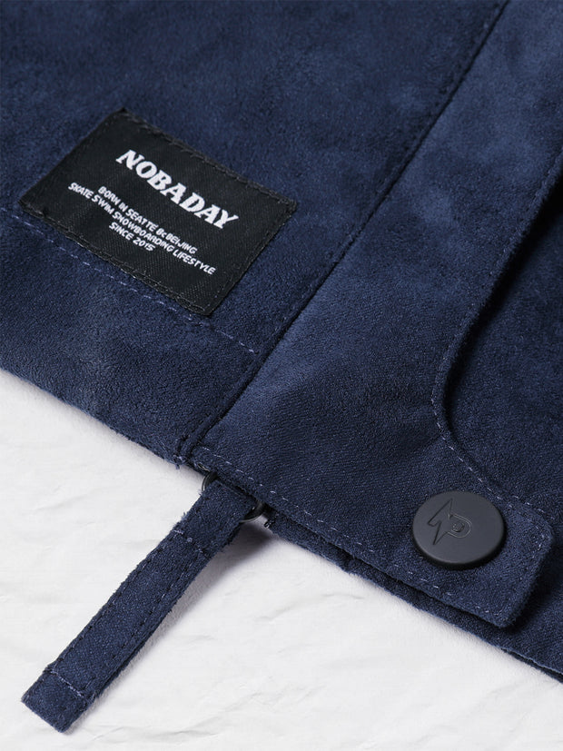 NOBADAY SUEDE ANORAK JACKET