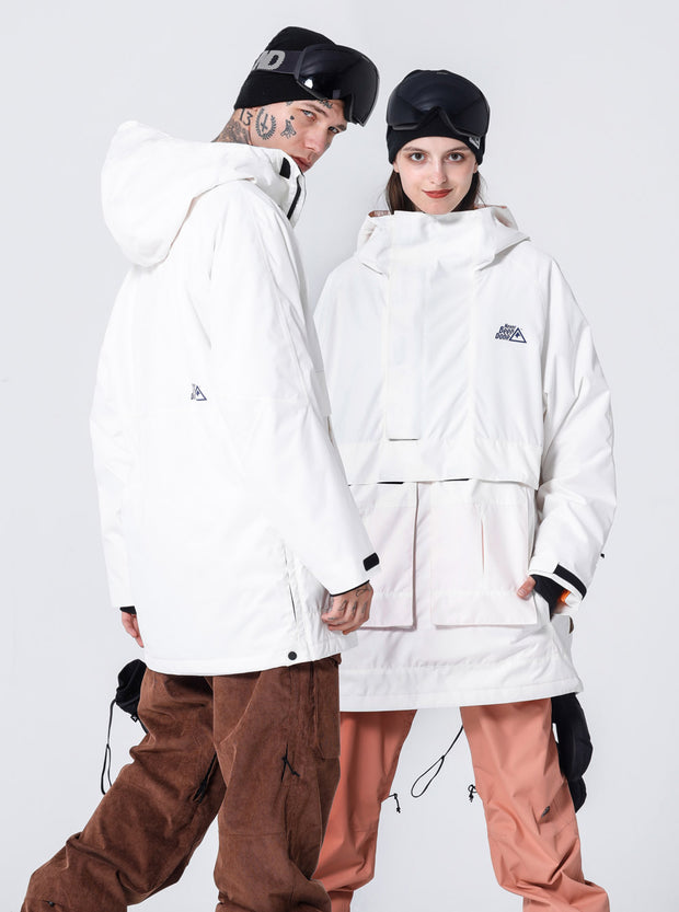 NBD INDEPENDENT ANORAK JACKET-WHITE