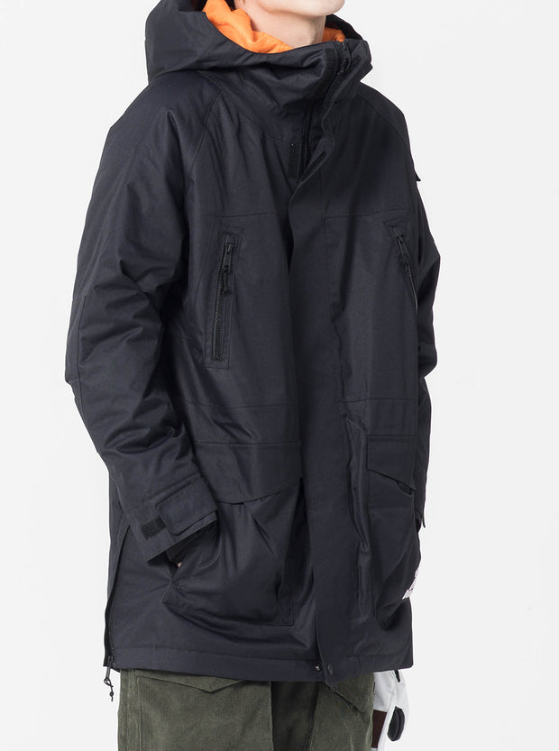 NBD ZIPPER INSULATION JACKET-PURE BLACK