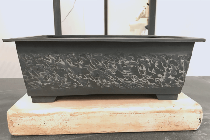 Making a Marbled Effect Rectangular Bonsai Pot