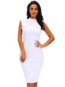 Falbala Sleeveless Women's Sheath Dress