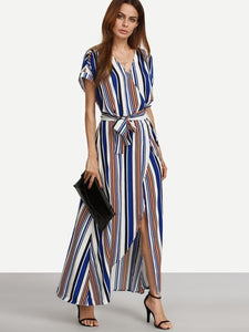 Lace up Split Women's Maxi Dress