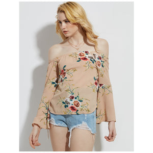Nude Flower Blouse