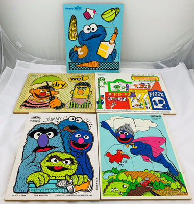 Sesame Street Puzzles - 1970's - Playskool - Very Good Condition