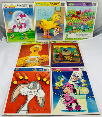 Frame Tray Puzzles - 1980's-90's - Golden - Very Good Condition