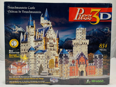 Neuschwanstein Castle Puzz 3D  - 1995 - Wrebbit - New