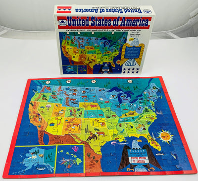 United States Map Puzzle - 1965 - Golden - Great Condition