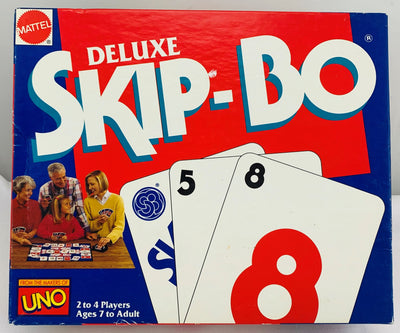 Skip-Bo Deluxe Game - 1992 - Mattel - Great Condition