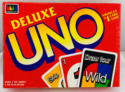 Uno Deluxe Game - 1993 - Mattel - Great Condition