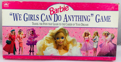 Barbie: We Girls Can Do Anything Game - 1991 - Golden - Great Condition