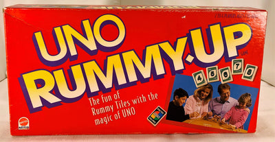 Uno Rummy Up Game - 1993 - Mattel - Great Condition