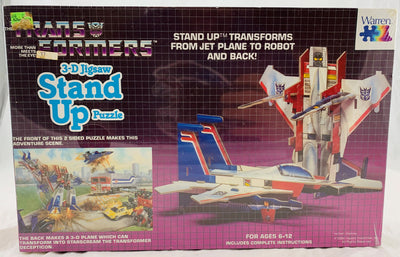 Transformers Starscream Stand Up 3D Puzzle - 1984 - Warren - New
