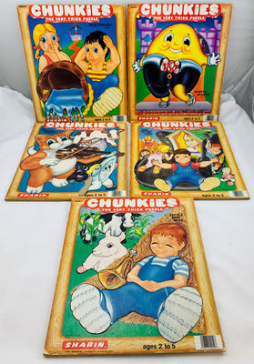 Chunkie Nursery Rhyme Puzzles - 1984 - Sharin - Great Condition