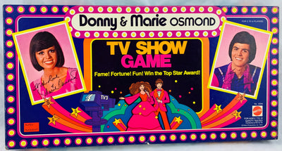 Donny & Marie Osmond TV Show Game - 1976 - Mattel - Near Mint Condition